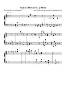 Experimental Musical Score